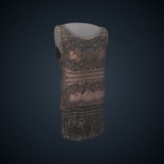 3d model of dress, 1-piece