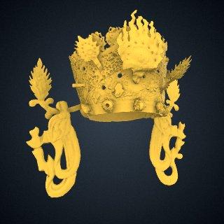 3d model of Bodhisattva Avalokiteshvara (Gwaneum), Duk-953 - Crown Only