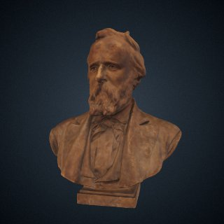 3d model of Rutherford B. Hayes