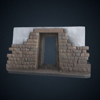 3d model of Double Jamb Doorway -- La puerta doble jamba