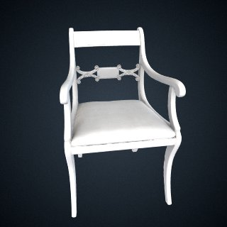3d model of Armchair with slip seat