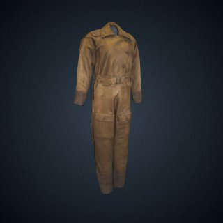 3d model of Amelia Earhart's flight suit