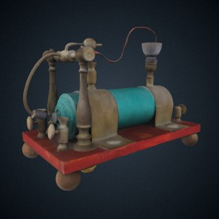 3d model of Page induction coil from US Patent #76,654