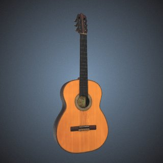 3d model of Concerto Candelas Guitar, played by Jose Feliciano