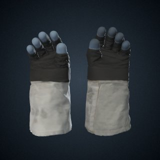 3d model of Gloves, A7-L, Extravehicular, Apollo 11, Armstrong, Flown