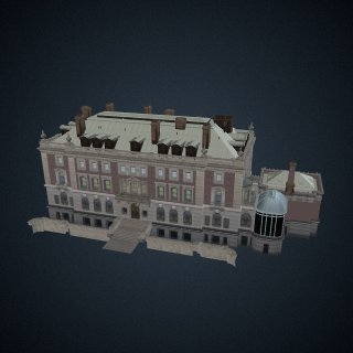 3d model of Carnegie Mansion: Exterior