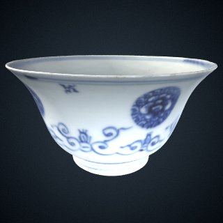 3d model of Bowl, one of a pair with F1992.4