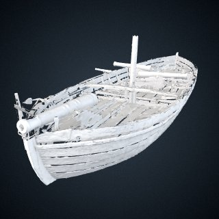 3d model of Gunboat Philadelphia