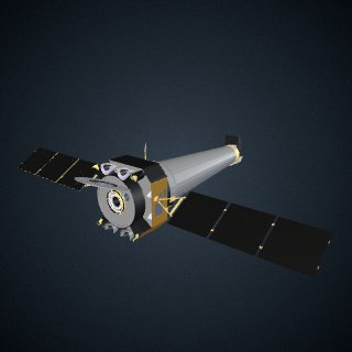 3d model of Chandra X-ray Observatory