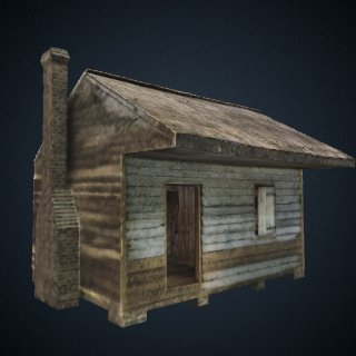 3d model of Cabin from Point of Pines Plantation in Charleston County, South Carolina
