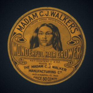3d model of Tin for Madame C.J. Walker's Wonderful Hair Grower