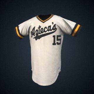 3d model of Azteca's baseball jersey