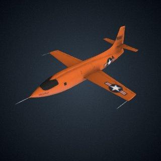 3d model of Bell X-1