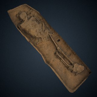 3d model of Captain William West burial