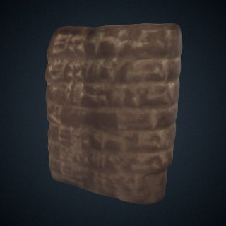 3d model of Assyrian Baked Clay Cuneiform Tablet