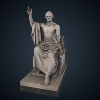 3d model of George Washington