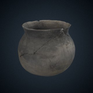 3d model of Colonoware pot from Cooper River, Charleston County, SC