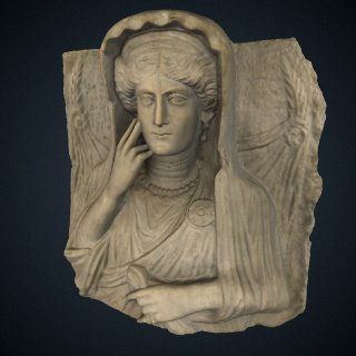 3d model of Funerary relief bust