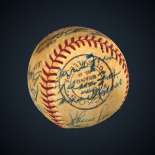 3d model of Baseball, signed by the 1953 Chicago White Sox