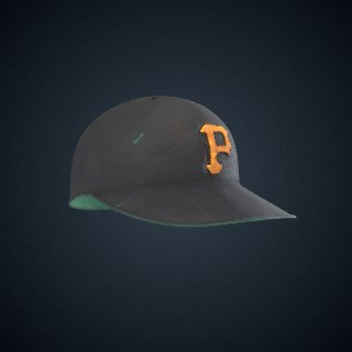 3d model of Roberto Clemente's Batting Helmet