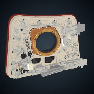 3d model of Hatch, Crew, Apollo 11: CAD Model