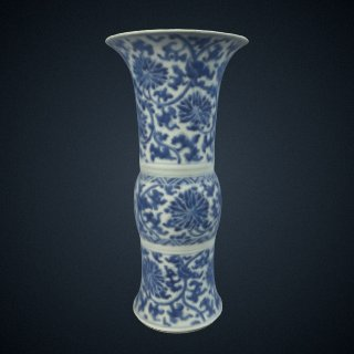3d model of Vase, one of a pair with F1992.13.1