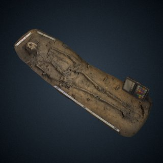 3d model of Sir Ferdinando Wainman burial