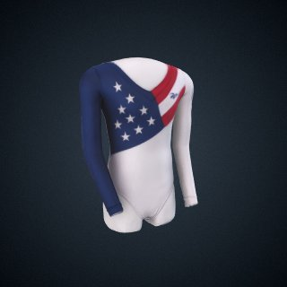 3d model of Olympic Gymnastics Leotard, worn by Dominique Dawes