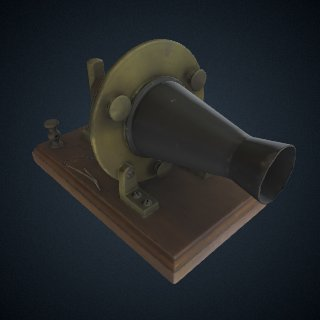 3d model of Alexander Graham Bell Experimental Telephone