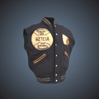 3d model of Azteca Championship jacket