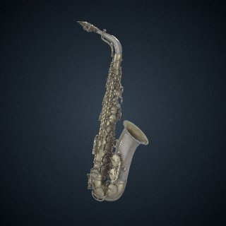 3d model of Alto saxophone owned and played by Charlie Parker