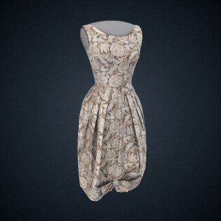 3d model of Feedsack Dress