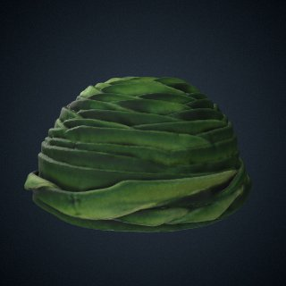 3d model of Green wrap hat made by Vanilla Beane