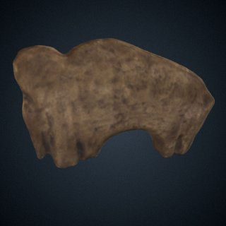 3d model of Mammoth Figure, Cast