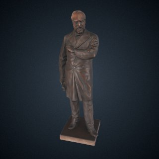 3d model of James Garfield