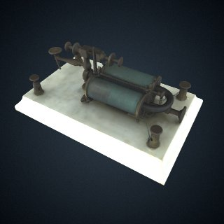 3d model of Chester telegraph relay