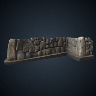 3d model of Saqsaywaman Wall Segment