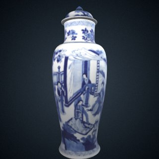 3d model of Baluster vase, one of three in a five-piece garniture (F1980.190--194)