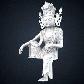 3d model of Bodhisattva Avalokiteshvara (Gwaneum)