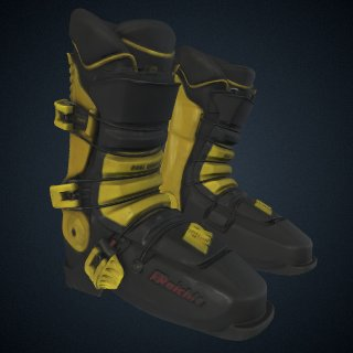 3d model of Ski boots worn by Seba Johnson