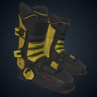 3d model of Ski boots worn by Seba Johnson