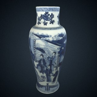 3d model of Baluster vase, from a five-piece garniture (F1980.190-.194)