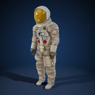 3d model of Neil Armstrong Spacesuit