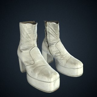 3d model of Costume boots for the Wizard in The Wiz on Broadway, worn by Carl Hall