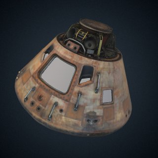 3d model of Command Module, Apollo 11