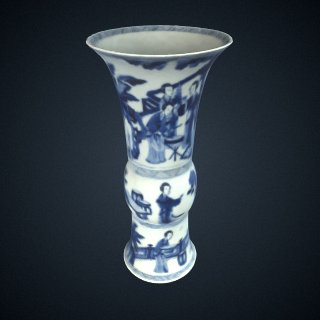 3d model of Beaker-shaped vase, from a five-piece garniture