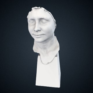 3d model of Helen Adams Keller