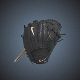 3d model of Glove, used by Mariano Rivera, New York Yankees