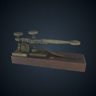 3d model of Morse-Vail Telegraph Key