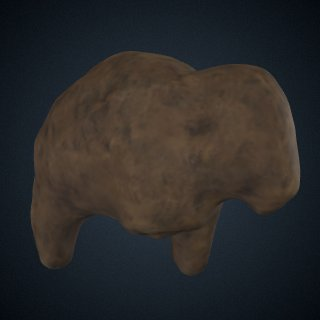 3d model of Bison Figure, Cast